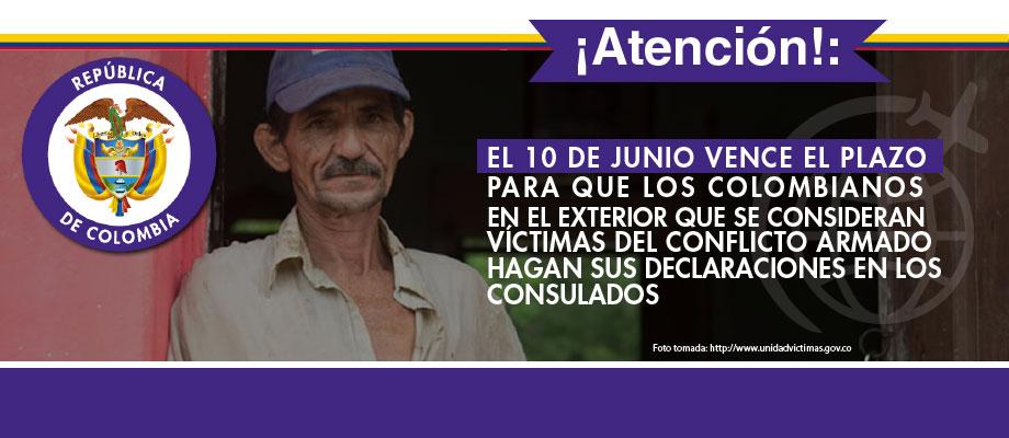 El 10 De Junio Vence El Plazo Para Que Los Colombianos En El Exterior Que Se Consideran V Ctimas