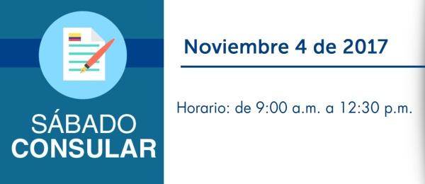 El Consulado de Colombia en Montreal realizará un Sábado Consular el 4 de noviembre de 2017
